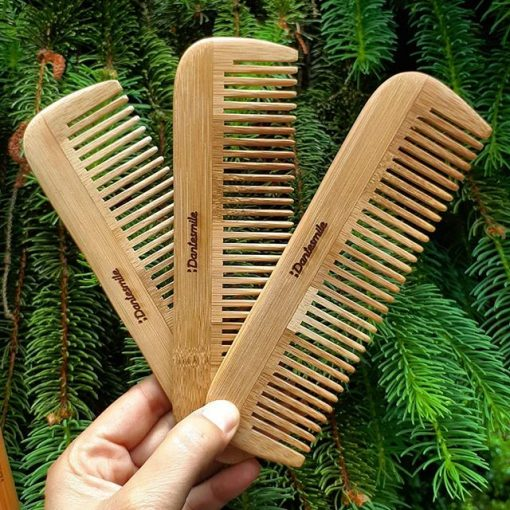 Bamboo hair comb Dantesmile