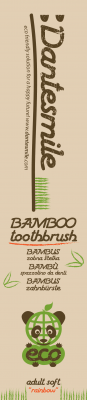 Dantesmile bamboo toothbrush adult design