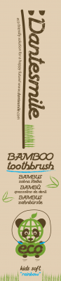 Dantesmile bamboo toothbrush kids design