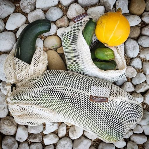 Organic cotton produce bag Dantesmile, mesh