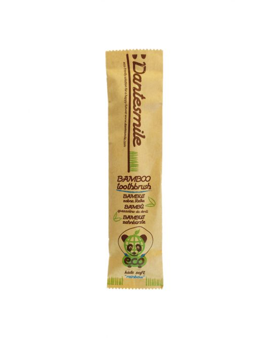 Bamboo toothbrush Dantesmile for kids packaging front