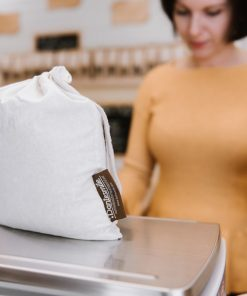Organic cotton muslin bag for produce Dantesmile