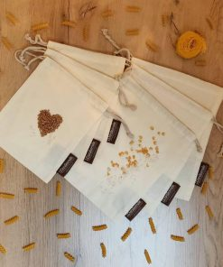 Organic cotton muslin bags Dantesmile for produce