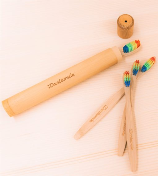 Bamboo travel case for toothbrush Dantesmile